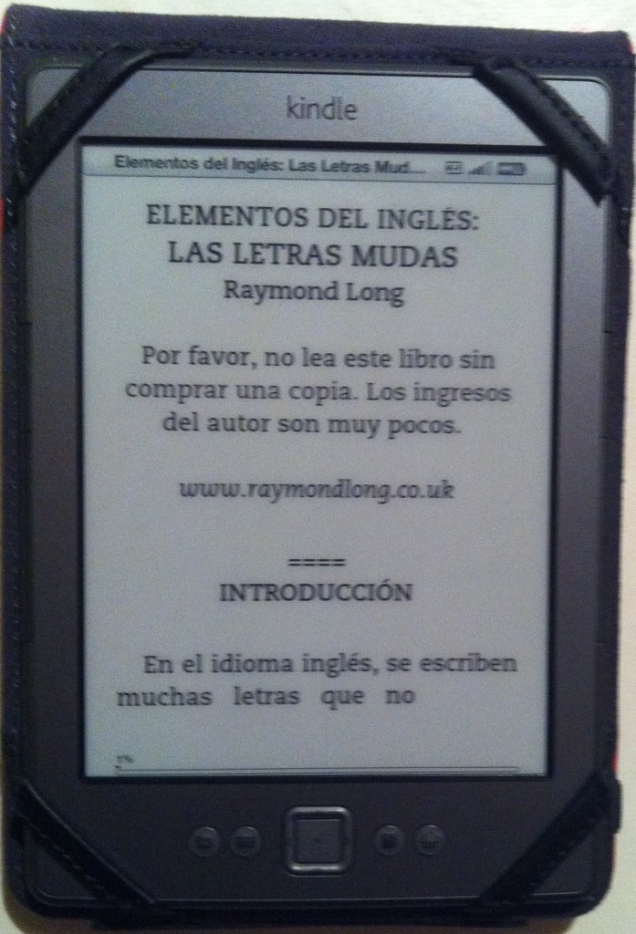 Foto de advertencia en un ebook