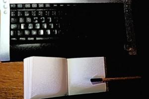 El blogger va a todas partes con su cuaderno real o virtual