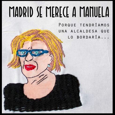 Manuela lo bordaría