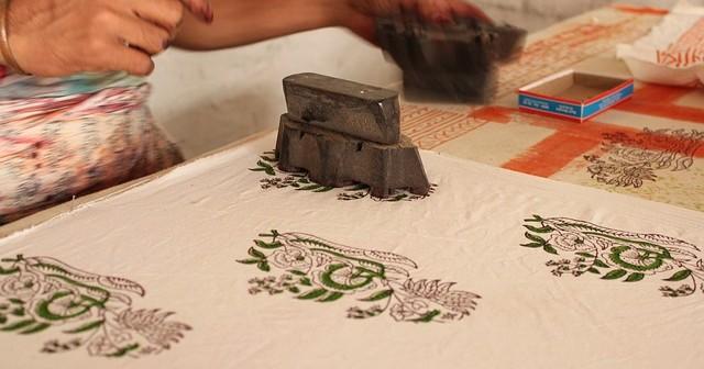 Impresión manual sobre tela