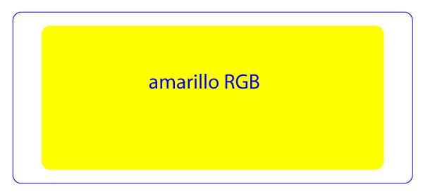 Amarillo reproducido en un sistema RGB