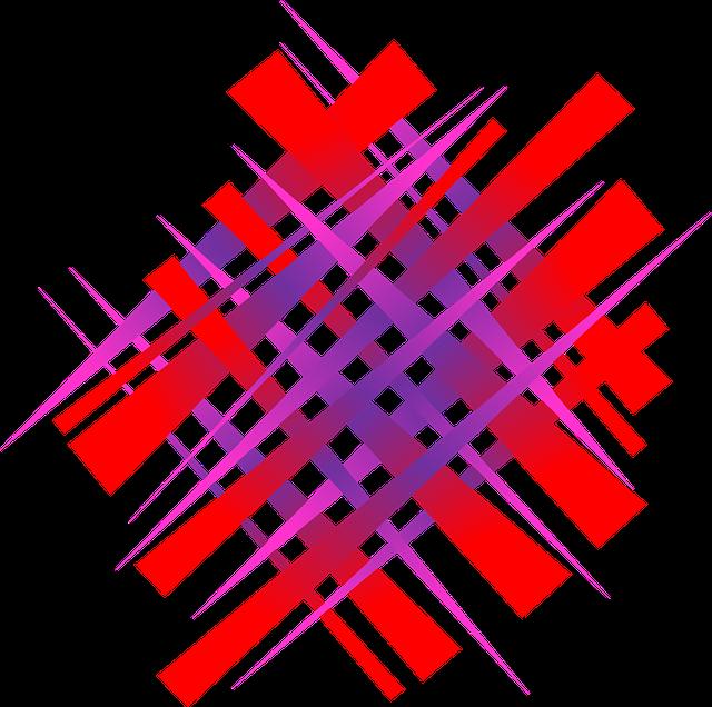 Tiras de colores entrelazadas