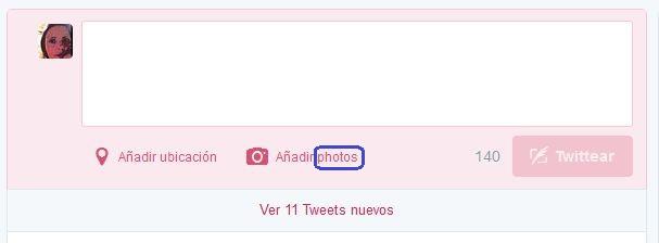 Error de traducción en aplicación web de Twitter