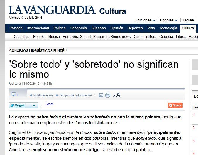 Explicación de La Vanguardia