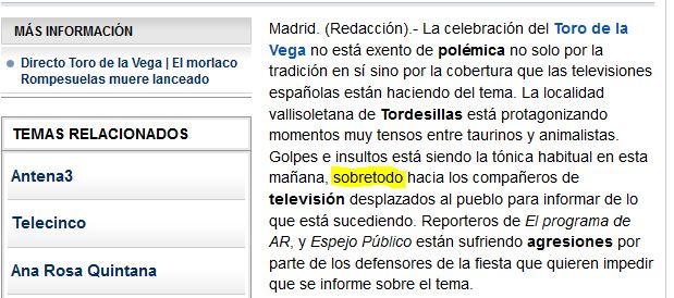 """Sobre todo"" junto Vanguardia"