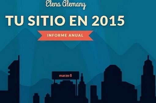 Informe anual de la actividad del blog elenaalemany.com