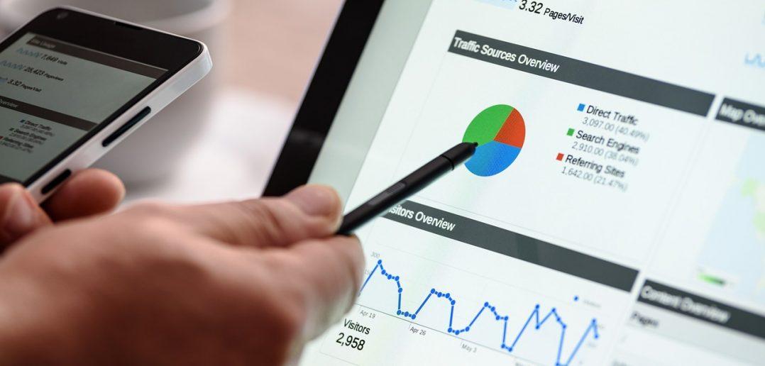 Gráficos de proporciones y tendencias en analítica web
