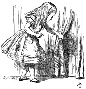 Alica según la ilustración de John Tenniel