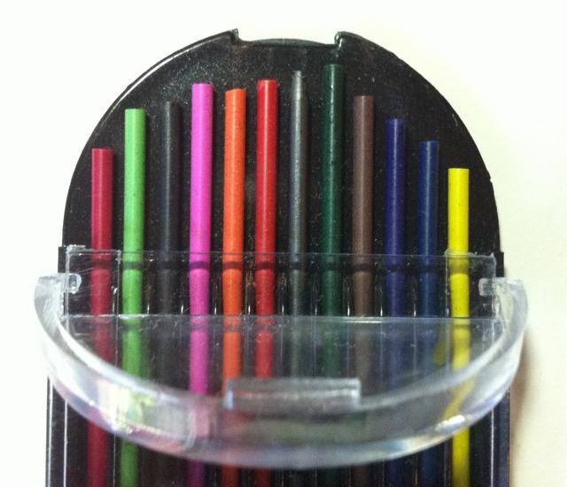 Minas de colores para portaminas