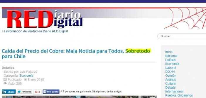 Ejemplo de una publicación digital de Chile