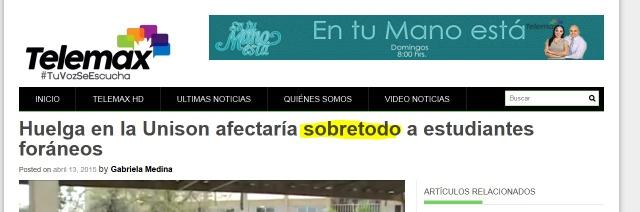 Error ortográfico en medio mexicano