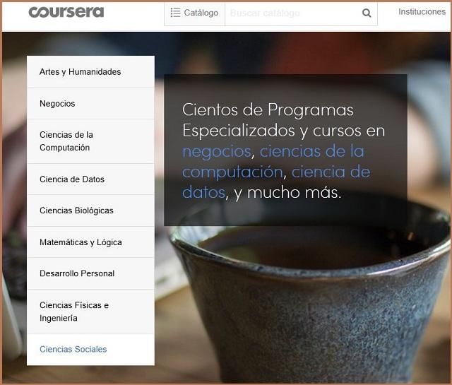 La plataforma Coursera tiene cientos de cursos MOOC