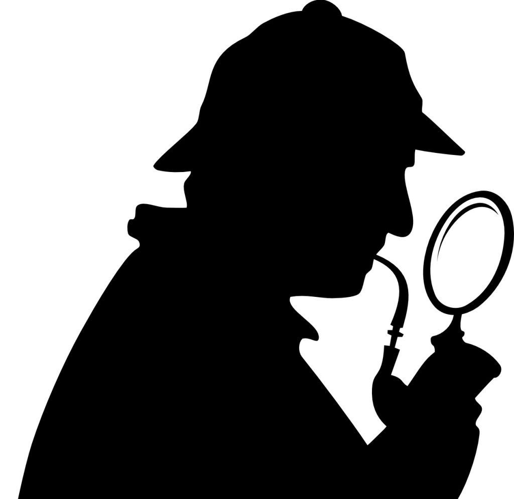 Ilustración de Sherlock Holmes, patrón de los analistas