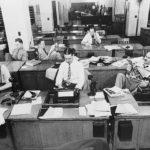 Redacción del New York Times hacia 1942